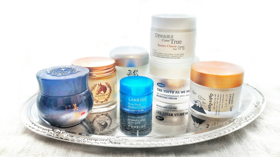 Facial Creams Comparison: Laneige, Missha, Bliss, Beauty of Joseon, Shara Shara, Enprani & Claire