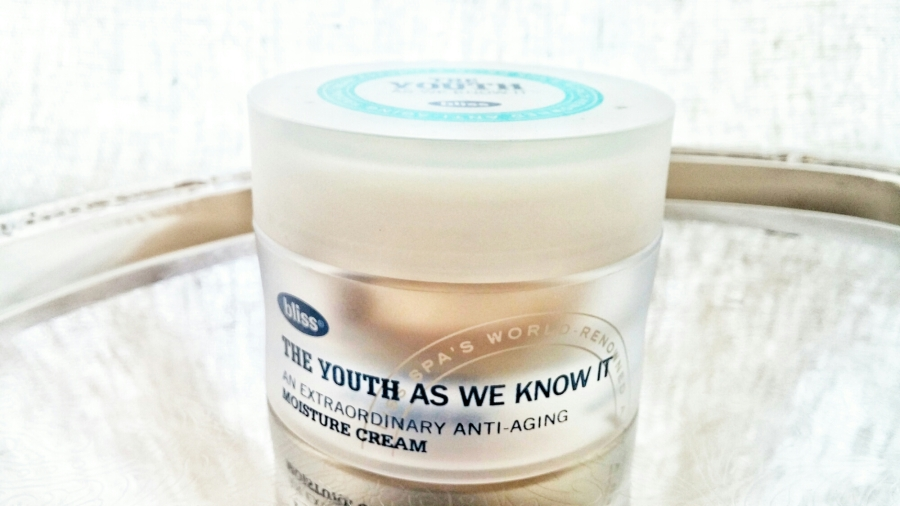 Facial Cream Review: Bliss's The Youth As We Know It Moisture Cream